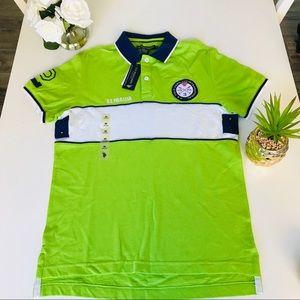 US Polo Assn Men's Lime Green Polo Medium